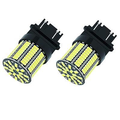 CATO-WDJ 3157 Brake Light LED Bulbs, Bright 6000k White 108 SMD 3056 3156 3057 4157 LED Bulbs for Backup Reverse Lights Brake Lights, Turn Signal Lights, Aluminum body 3156 led bulbs, 2pcs: Automotive
