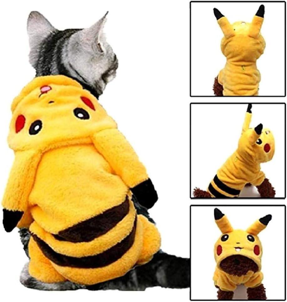 EVRYLON Disfraz de Pikachu para Animales Dibujos Animados de ...