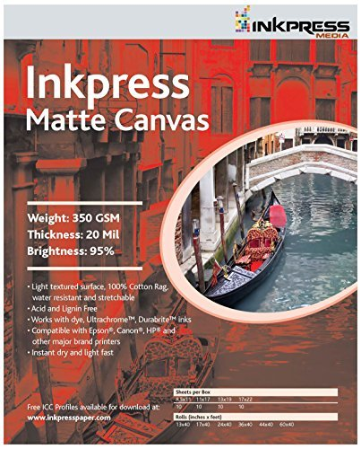 INKPRESS MEDIA 350GSM,20MIL, 95% Bright Quality Paper (#ACW851110) Size: 1 - Pack Style: A, Model: # ACW851110, Office/School Supply Store