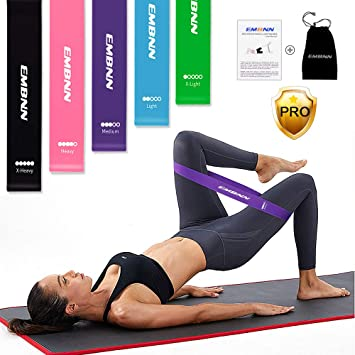 5c70f4c485 Amazon.com  EMBNN Resistance Loop Exercise Bands for Legs