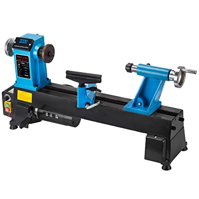 Mophorn Wood Lathe 10 x 18 Inch,Bench Top Heavy Duty Wood Lathe Variable Speed 500-3800 RPM,Mini Wood Lathe Regulation Digital Display,Benchtop Lathe Strong Power 550W
