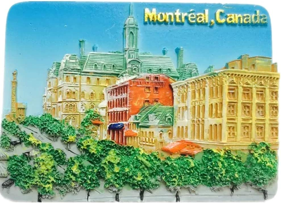 Montreal Canada Fridge Magnet 3D Resin Handmade Craft Tourist Travel City Souvenir Collection Letter Refrigerator Sticker