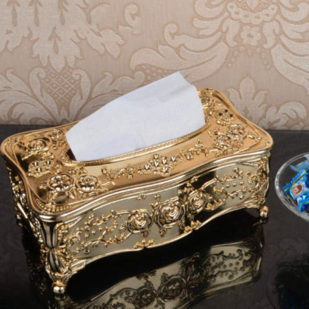 4.0 inch,Gold 9.23 4.95 EasyArt Tissue Holder Box Golden Euroupian Type Luxury Design Decorative Home//Office//Car