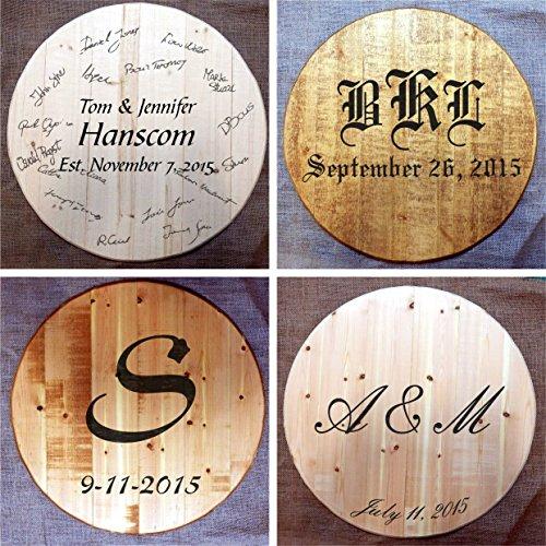 Amazoncom Custom Made Wine Or Bourbon Whiskey Barrel Head Wedding