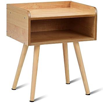 Yongtaifeng Table de Chevet Table d\'Appoint en Bois Moderne et Rustique  Scandinaves (Modèle 3)