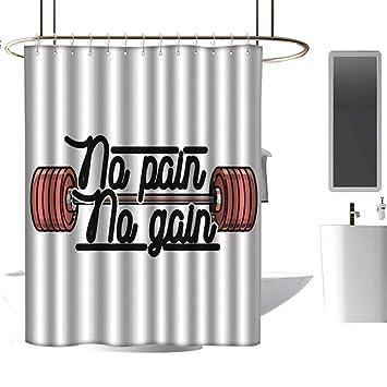 Wixuewu Cortina de Ducha con diseño Vintage de Mancuernas para Levantamiento de Pesas, para niñas, 48 x 84, Color Negro y Blanco: Amazon.es: Hogar