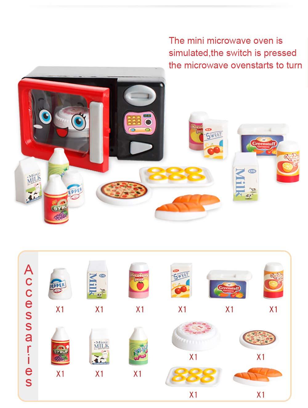 JEJA Pretend Juego de Cocina para ni/ños de Cocina el/éctrica Juego de Cocina de Alimentos Sonidos y Luces a bater/ía Regalo para ni/ños Ni/ñas