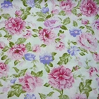 una pieza 50cm * 160cm Tela de algodón estampado con flores,telas para hacer patchwork, telas tilda, retales de telas, tela algodon por metros: Amazon.es: Amazon.es