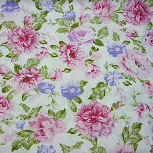 One Piece 19.7x63 Floral Cotton Fabric for Quilting Blanket Baby Bedding Sheet Crib bumper Sewing Cloth BYY FABRIC FACTORY