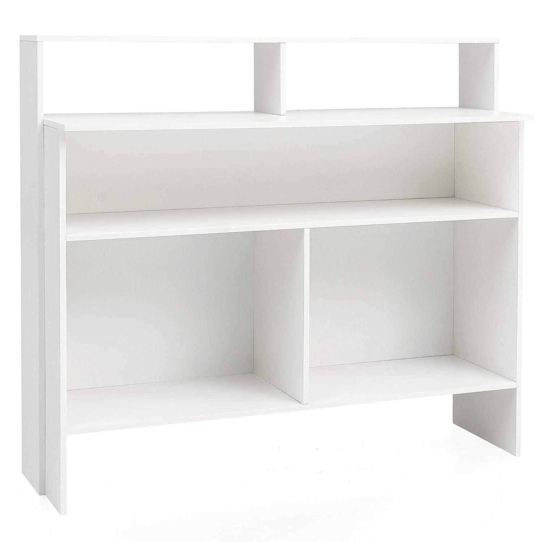FineBuy Standregal Holz 130x120x40 cm Stehregal | Bücherregal Modern | Offenes Holzregal Anrichte Wohnzimmer | Buchregal Kinderzimmer Mehrzweckregal | Regal Offen Esszimmer