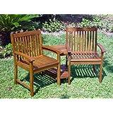 International Caravan VF-4113-IC Furniture Piece Outdoor Wood Corner Double Chair