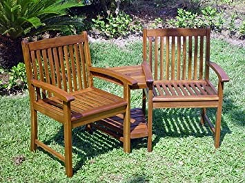 International Caravan VF 4113 IC Furniture Piece Outdoor Wood Corner Double  Chair