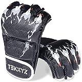 TEKXYZ MMA Gloves, UFC Equipment Training, Martial Arts Training Equipment, Boxing Fighting Training Sparring Gloves