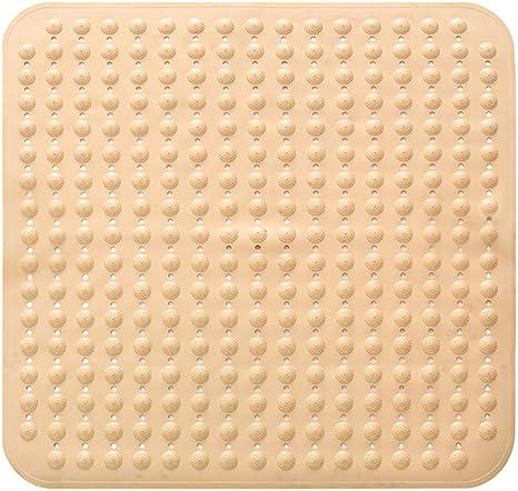 Bathsafe Anti Rutsch Badematte 80 X 80 Cm Extra Groß Quadratisch Rutschfest Mit Saugnäpfen Antibakteriell Umweltfreundliches Tpr Material Gelb Küche Haushalt