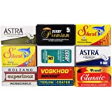 Astra-Derby-Shark-Voskhod-Treet 50 Quality Double Edge Razor Blades Sampler (9 different brands)