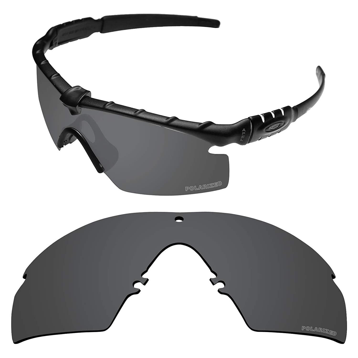 4a7812b4e64d Amazon.com  Tintart Performance Replacement Lenses for Oakley Si Ballistic M  Frame 3.0 Sunglass Polarized Etched-Carbon Black  Clothing