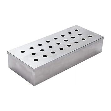 ToCis Big BBQ Caja para ahumar de Acero Inoxidable, 24 x 10 x 4,5 cm, Accesorio de Barbacoa para Barbacoa de Gas, Barbacoa de carbón, Barbacoa de ...