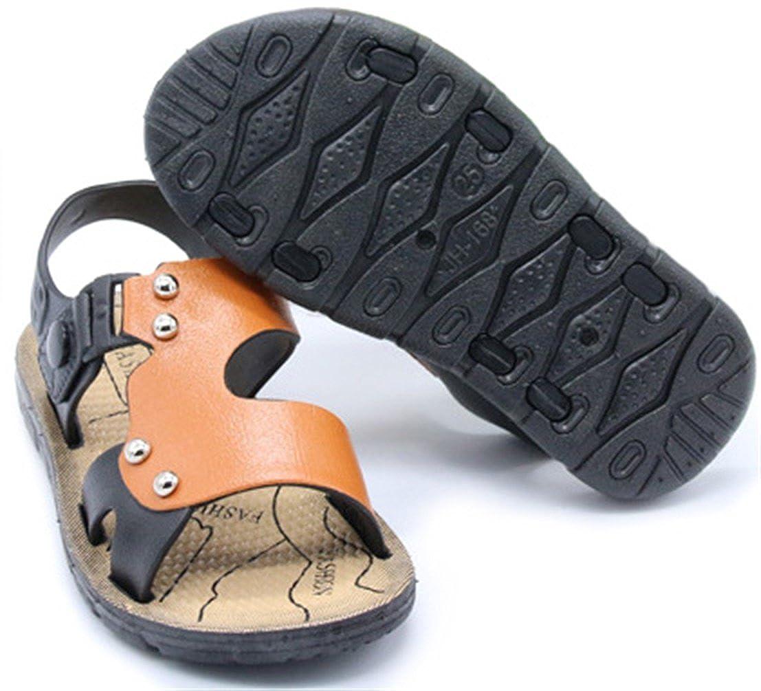 PPXID Boys Open Toe Rivet Buckle Outdoor Casual Sandbeach Sandals D0213