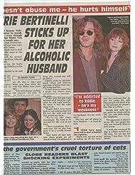 Valerie Bertinelli Eddie Van Halen original clipping magazine photo 1pg 9x12 #R4394