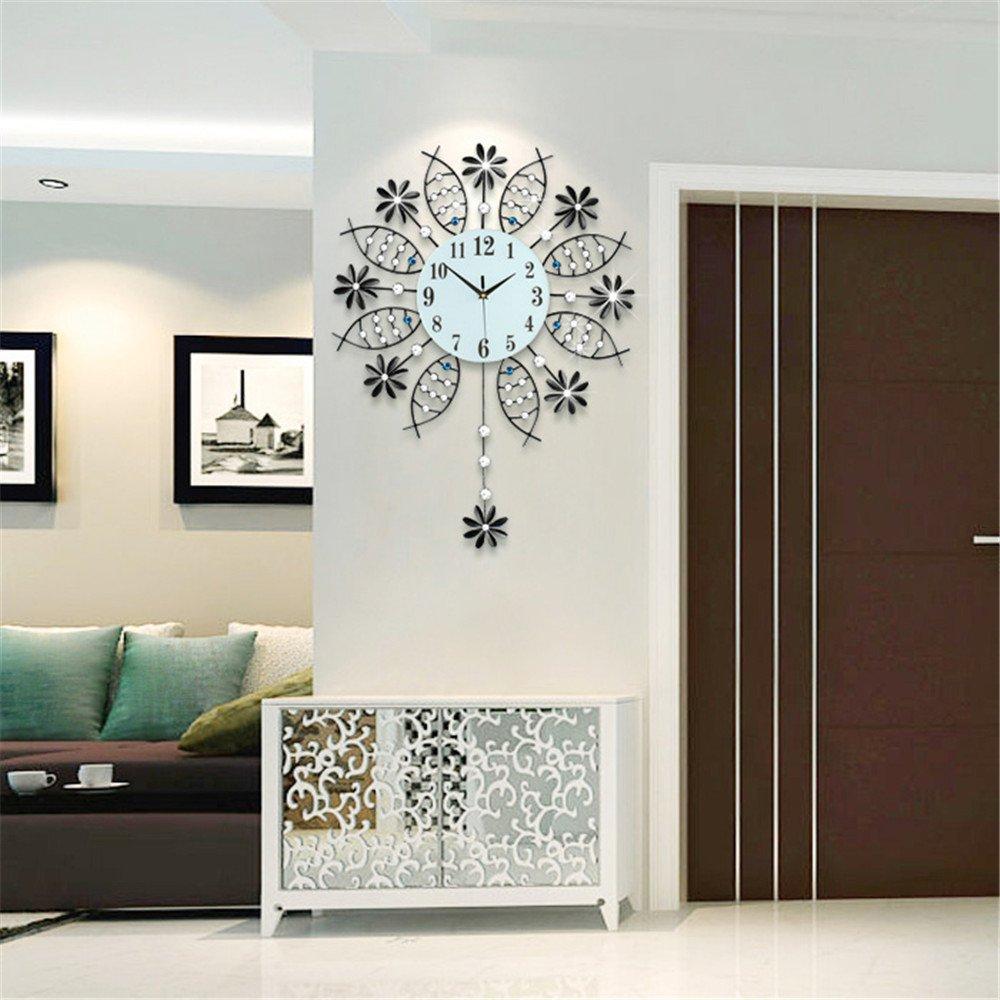 RFVBNM Classic European-style boutique clocks Wall Clock Drawing creative modern minimalist wall chart China wind mute bedroom decor 5672cm clock clock