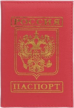 VIccoo Protecteur dorganisateur de Couverture en Cuir de Carte de cr/édit en Cuir de Titulaire de Passeport de Voyage Russe Rouge