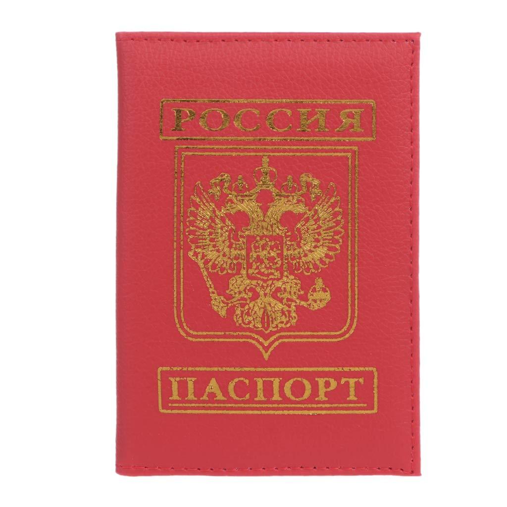JERKKY Embl/ème Russe Passeport Organisateur de Voyage Titulaire de la Carte /Étui Protecteur Couverture Portefeuille