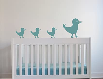 Walking Birds Family Wall Decals For Kids Rooms Nursery Baby Boys U0026 Girls  Bedroom Baby Nursery