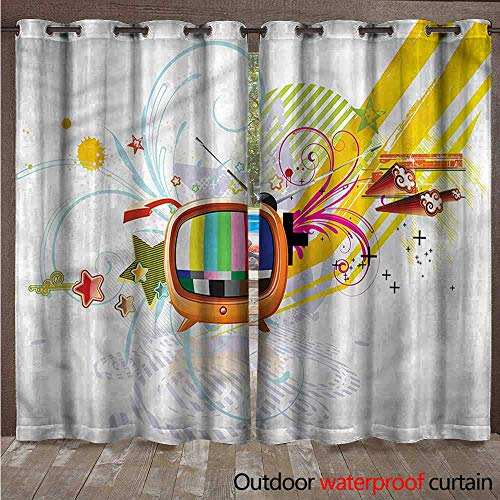 BlountDecor Modern Blackout Curtain Digital Media TV Art W120 x -