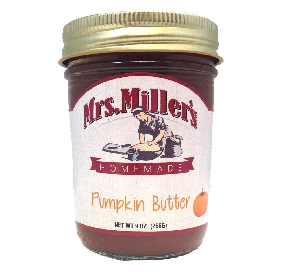 Favorite FRUIT BUTTERS Gift Assortment Box - 3 Jar Sampler, Variety Pack of Apple, Pumpkin and Pear Butter (9 oz full-sized jars) by Mrs. Miller's in a Gold Scroll Gift Box by Jarosa Gifts by Mrs. Miller's (Image #7)