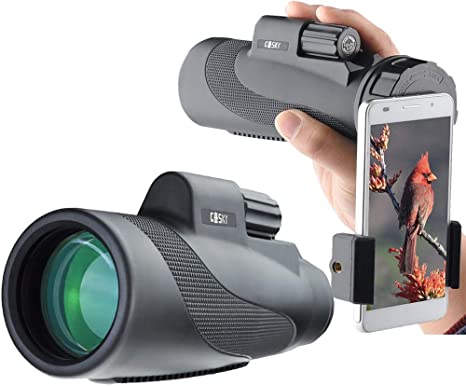 High Power Prism Monocular With Phone Holder