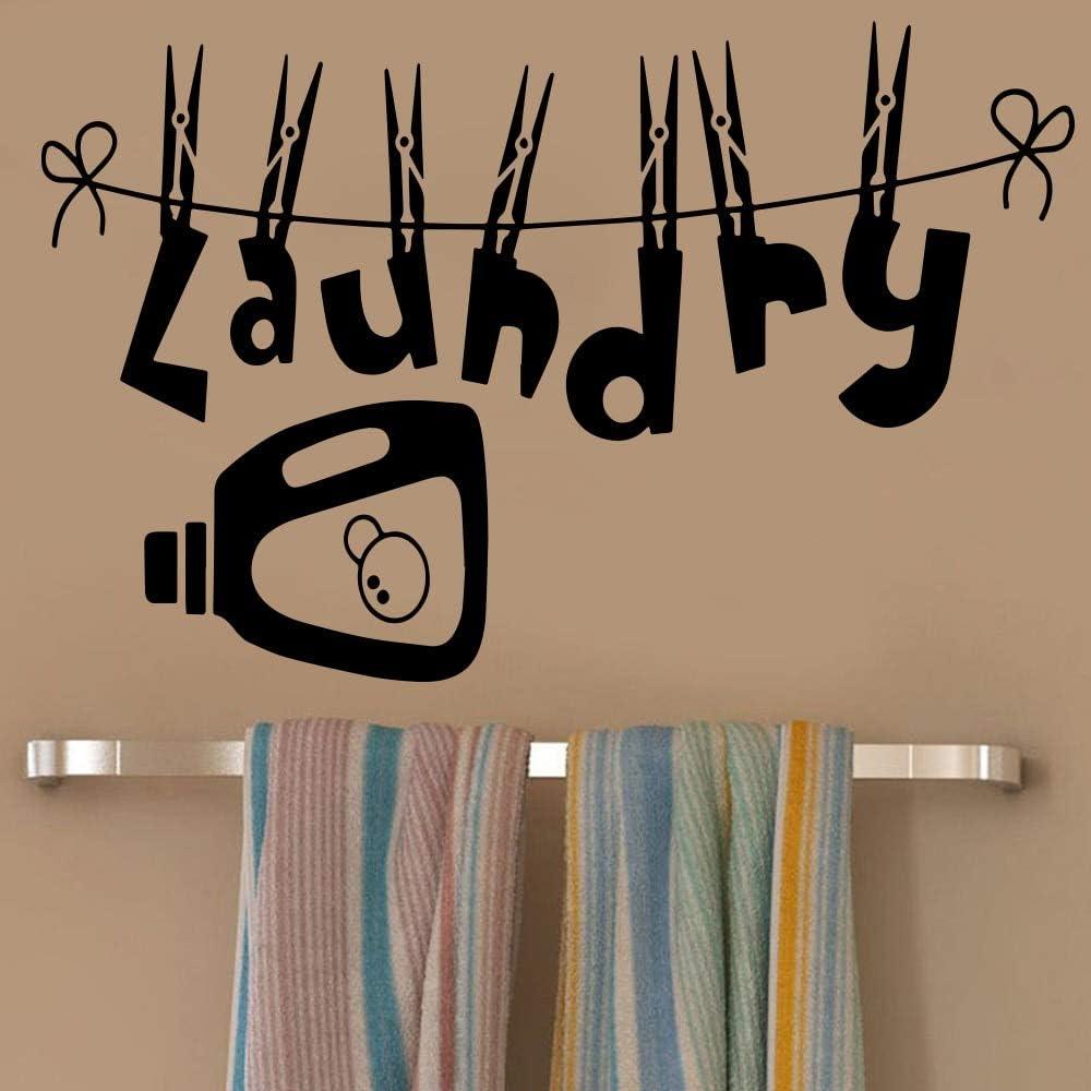 Pegatinas de Pared de lavandería de Estilo Europeo Accesorios de decoración del hogar Sala de Estar Pegatinas de habitación para niños decoración del hogar 54x82cm: Amazon.es: Hogar