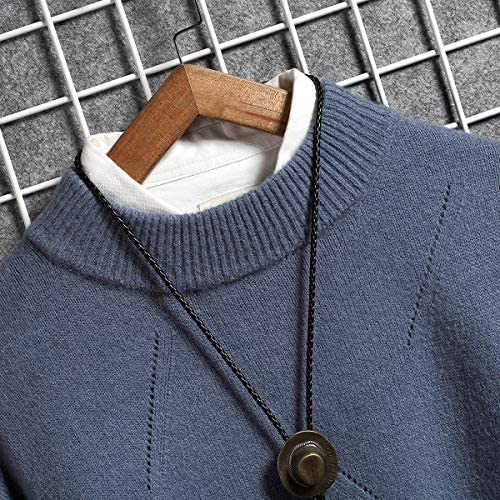 ニット セーター メンズ クルーネック 長袖 暖かい 防寒 ニットセーター カジュアル 春秋冬