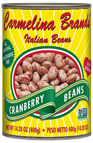 - Carmelina Brands Italian Borlotti Beans (Cranberry Beans), 14.28 ounce (Pack of 12)
