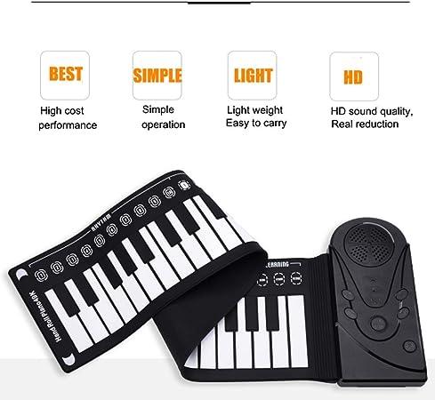 LuckyAnn Roll Up Piano Keyboard, portátil plegable 49 teclas ...