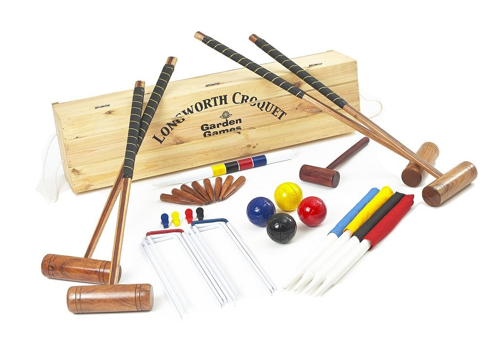 Garden Games Longworth Croquet Set (boxed, 4 player) by Garden Games