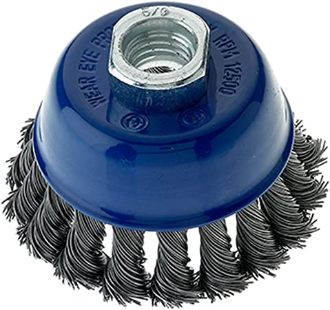 5 Pack 2-3//4″ x 5//8″-11 Stainless Steel Wire Knot Cup Brush for Angle Grinders
