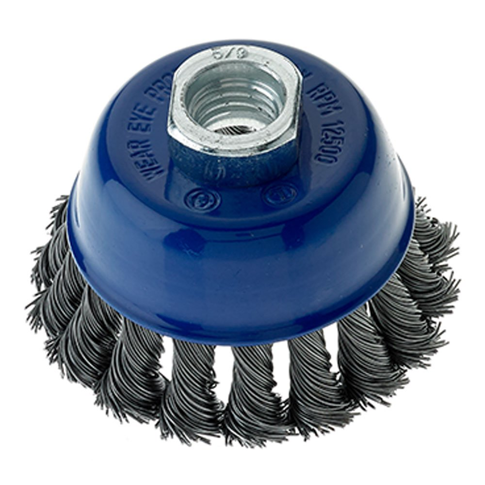 Mercer 189010B Knot Cup Brush 2-3/4'' x 5/8''-11 For Angle Grinders,Pack of 10