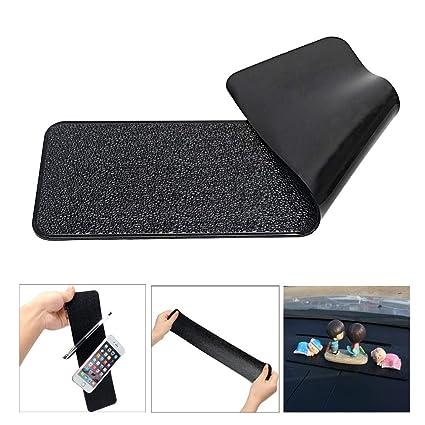 SalaBox-Accessories - Long Anti-slip Mat For Phone Keys Car Dashboard Sticky Pad Non-Slip Mat Holder Gel Magic PU Leather Texture Dual Auto Home Usage