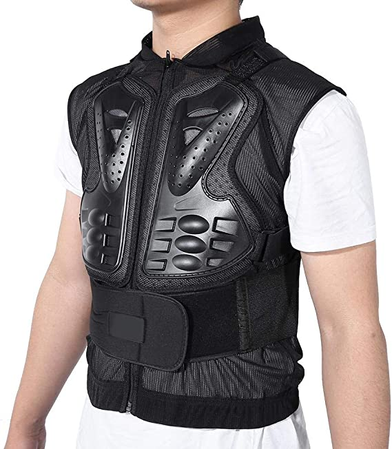 Dioche Motorcycle Protective Jacket,Motorcycle Vest Sleeveless Body Armor Protector,Adjustable Motorbike Sports Vest Armor Riding Chest