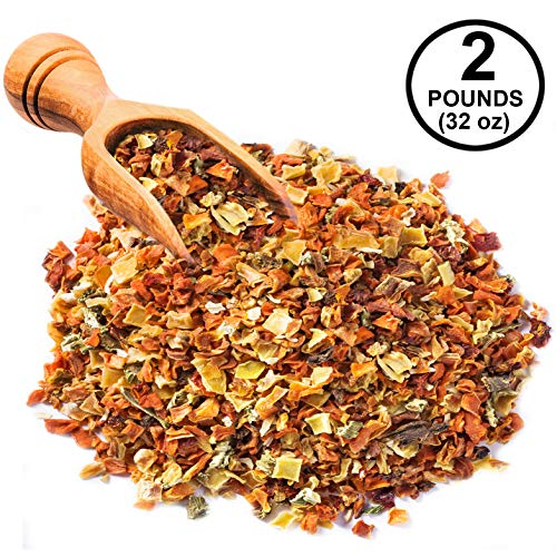 Yamees Dried Vegetable Flakes - Dehydrated Vegetables - Vegetable Soup Mix Blend - Bulk Spices - 32 Oz