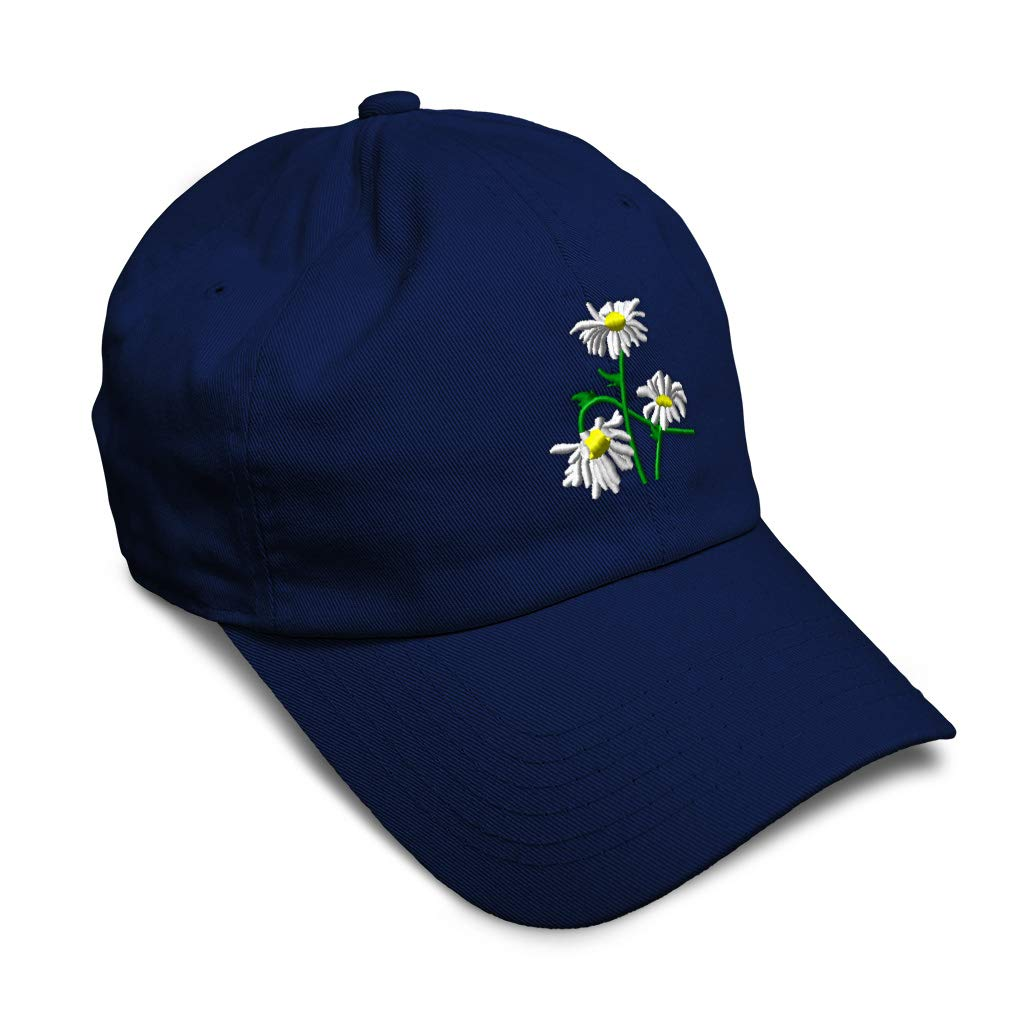Custom Soft Baseball Cap Field Daisies Embroidery Dad Hats for Men /& Women