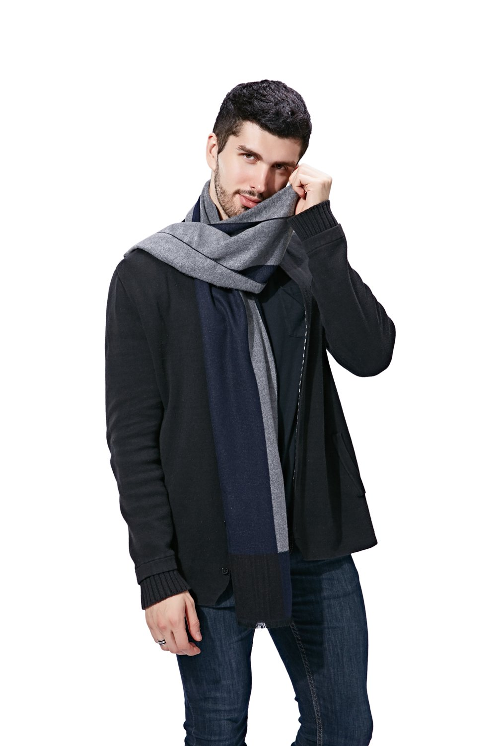 Men Winter Cashmere Scarf by FULLRON - Long Soft & Fashion Cotton Scarves