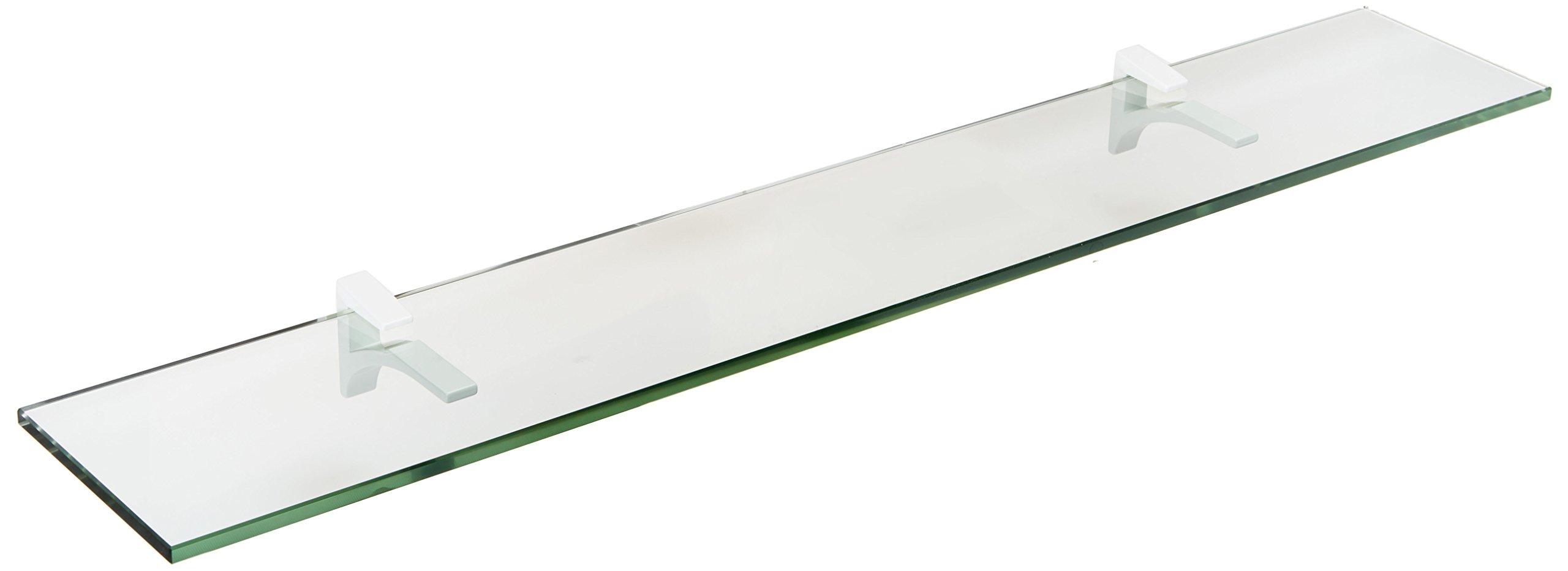 Spancraft Glass Cardinal Glass Shelf, White, 4.75 x 36