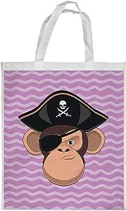 Monkey Pirate Printed Shopping bag, Large Size