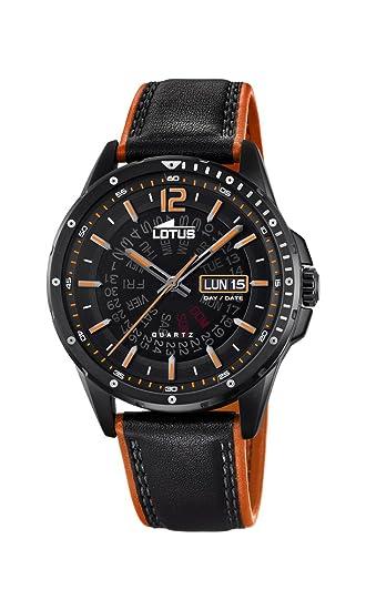 Lotus Watches Reloj Análogo clásico para Hombre de Cuarzo con Correa en Cuero 18525/1