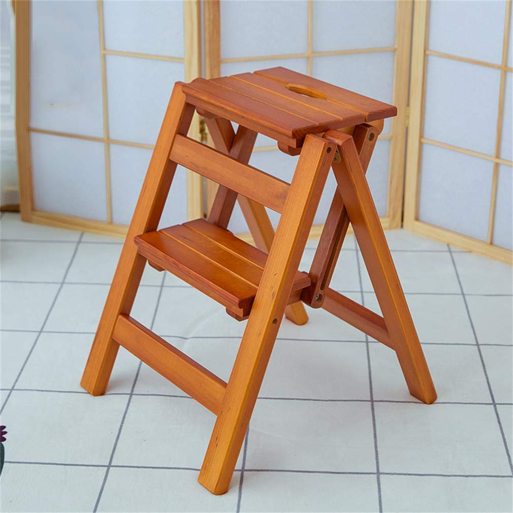 Astounding Amazon Com Alus Solid Wood Folding Ladder Stool Gmtry Best Dining Table And Chair Ideas Images Gmtryco