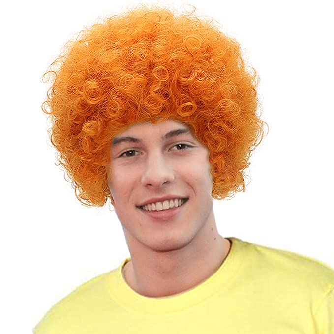 Blonde Curly Dennis Cosplay Wig Man Boy Synthetic