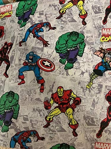 Country Snuggles Valance Curtain Panel Avengers Comic Books Lined 42 W x 84 L
