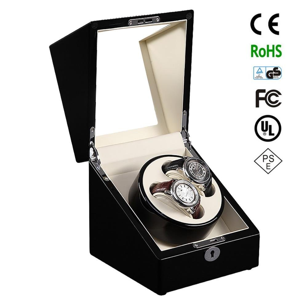 KAIHE-BOX Luxury Single 2+0 Watch Winder (many color ) Display Box Case [100% Handmade] S105BB , beige