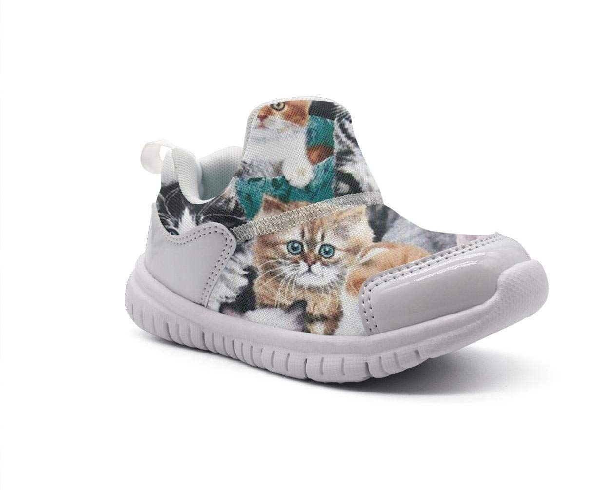 ONEYUAN Children Cute Kitty Cat Baby Kid Casual Lightweight Sport Shoes Sneakers Walking Athletic Shoes